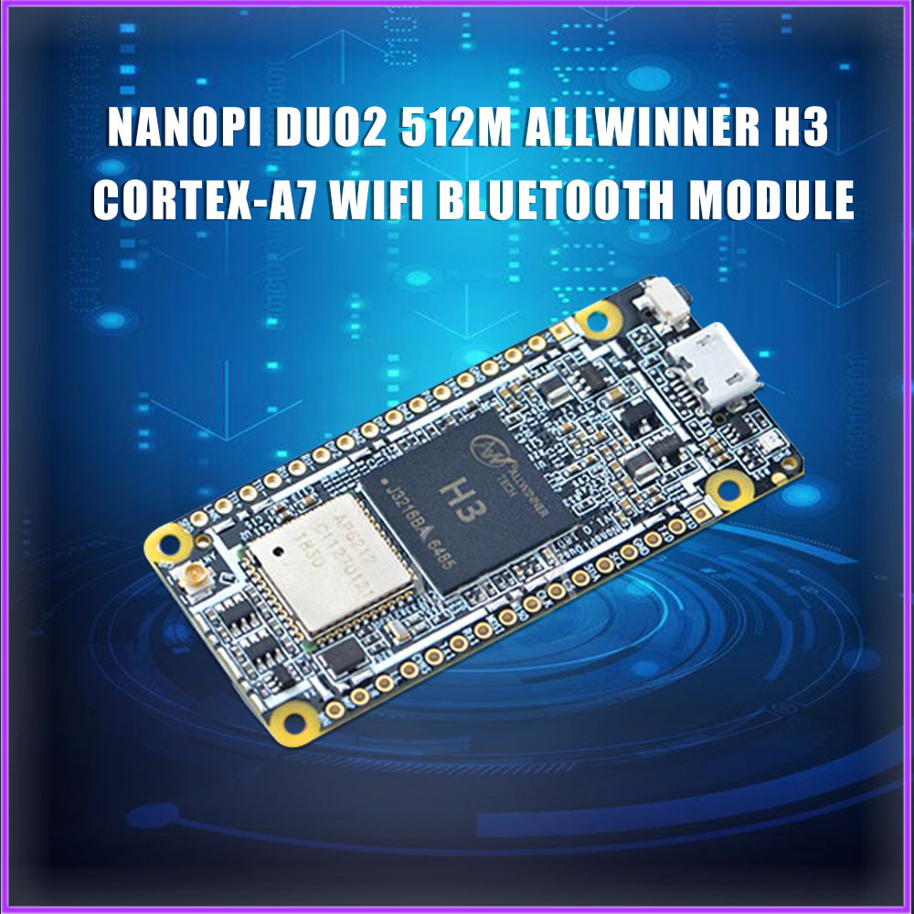 NanoPi DUO2 512M Allwinner H3 Cortex-A7 WiFi Bluetooth Module UbuntuCore Light-weight IoT Applications