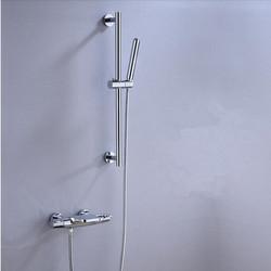 New Arrival High Quqality Bathroom Solid Brass Bathtub faucet Set Chrome Thermostatic Waterfall shower faucet Crane