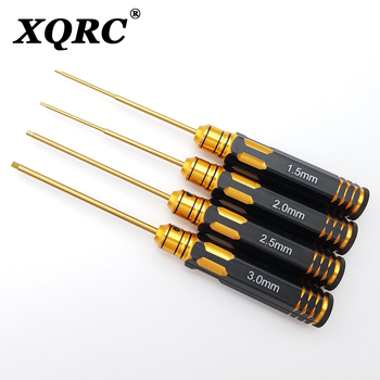 цена на XQRC 4-in-1 hexagon screwdriver 1.52.0 2.5 3.0 mm tool set, hexagon screwdriver professional RC tool set for FPV helicopter car