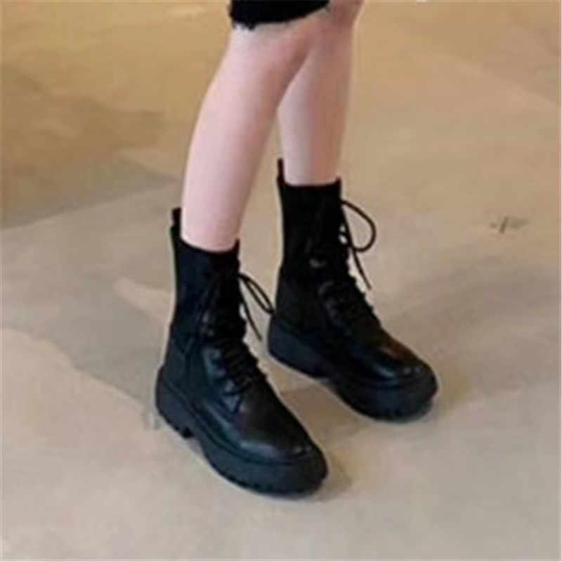 FEDONAS invierno Punk mujer moto botas fiesta zapatos para club nocturno mujer tacones gruesos de cuero genuino que hacen punto botines de mujer