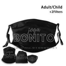Mascarilla facial reutilizable para niños y adultos, máscara con filtro PM2.5, con estampado de Bonito de Brasil