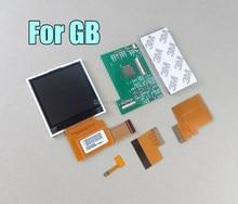 Reemplazo de Kits para GB DMG retroiluminación destacar IPS LCD Pantalla Completa brillo 36 Vintage colores de fondo con pantalla de vidrio