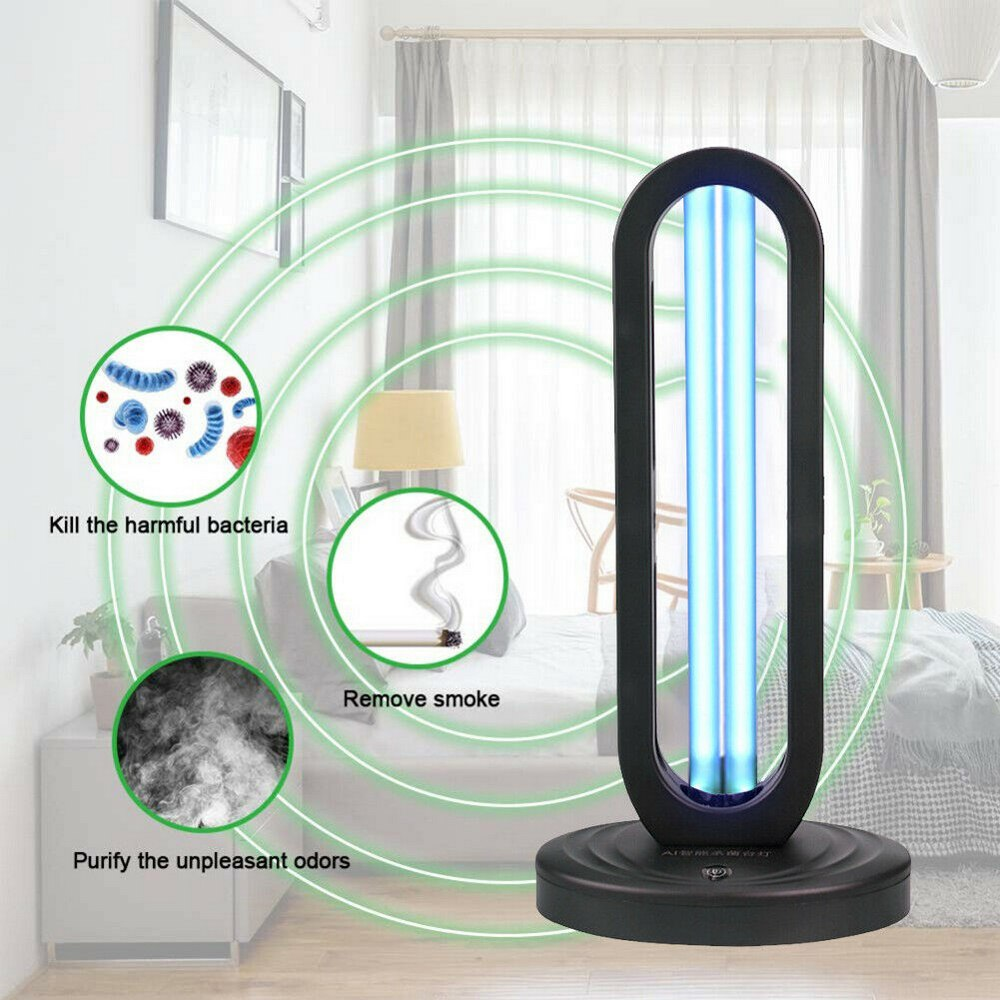 38W UV Disinfection Quartz Lamp Sterilizer Portable Mite Third Gear Timing Ozone Home Ultraviolet Lamp EU /US Plug In Stock