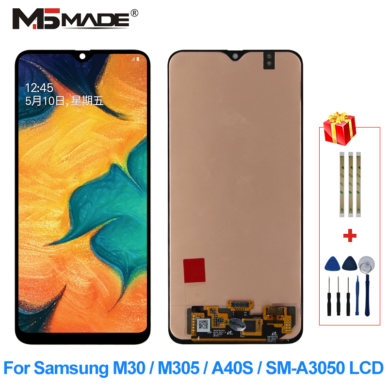 Original For <font><b>Samsung</b></font> Galaxy M30 M305 <font><b>A40S</b></font> SM-A3050 <font><b>LCD</b></font> Display Touch Screen Digitizer Replacement Parts For <font><b>Samsung</b></font> <font><b>A40S</b></font> Display image