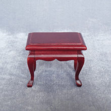 1:12 Doll House Mini Furniture Model European Style Classical Stool Side Table Mahogany Color Teapoy Table(China)