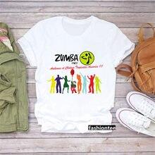 Zumba Fitness t-shirt femmes danse amant vêtements ginástica Do Esporte t-shirt Rocha chemise femme hauts hanche société hauts femmes gr