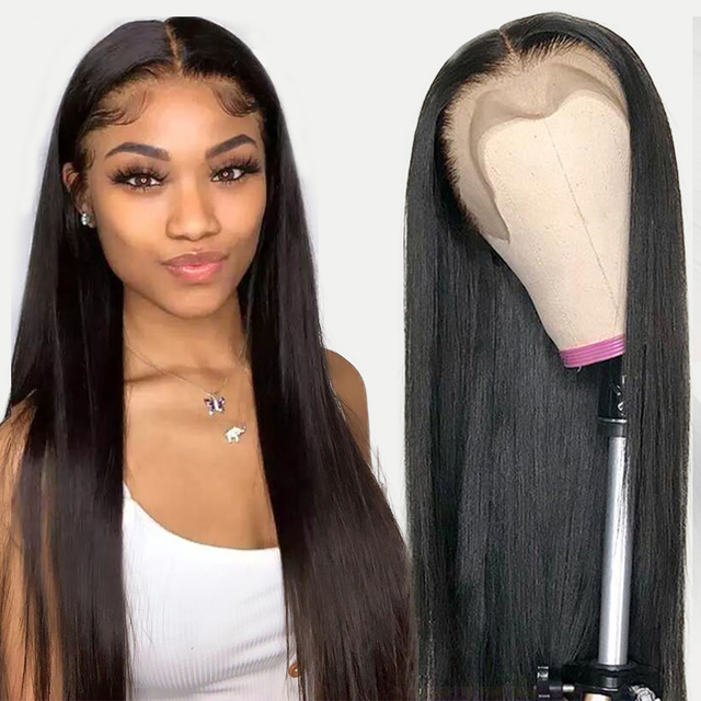 Jarin 13x4 Lace Front Human Hair Wigs Brazilian Straight Human Hair Wigs 30 inch Lace Frontal Wig Pre Plucked With Baby Hair