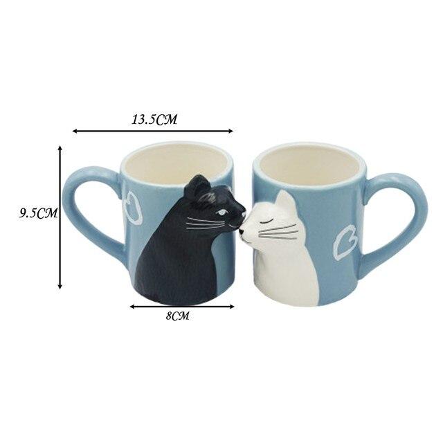 Cat Coffee Couple Mug set 5
