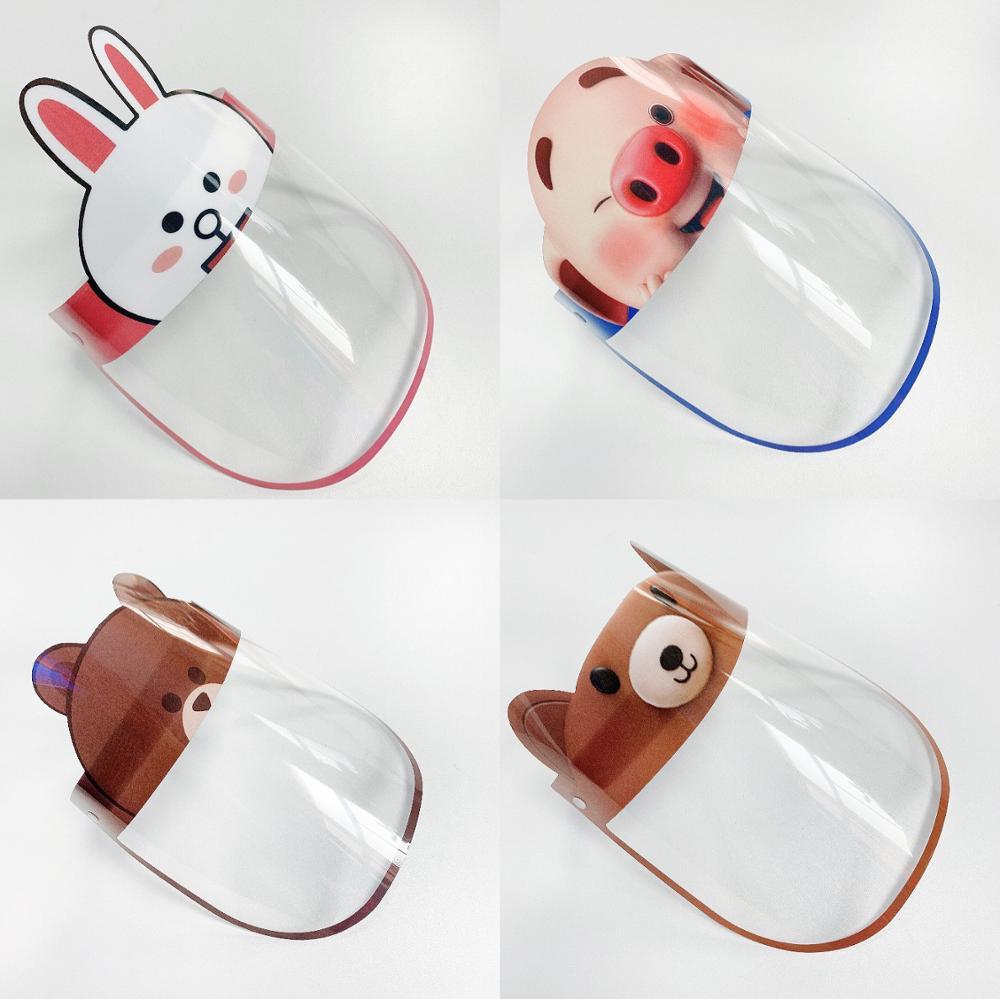 Kid Clear Anti-fog Anti-spitting Splash Dust-proof Protective Visor Full Face Covering Mask Shield Prevent Cartoon Face Sheild