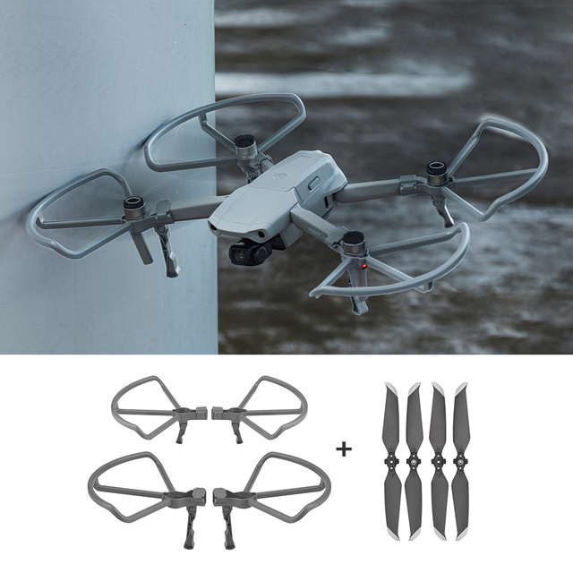 2 in 1 Kits Propeller Guard with Heightening Landing Gears for DJI Mavic Air 2/Air 2S Drone Propellers Guards Accessory