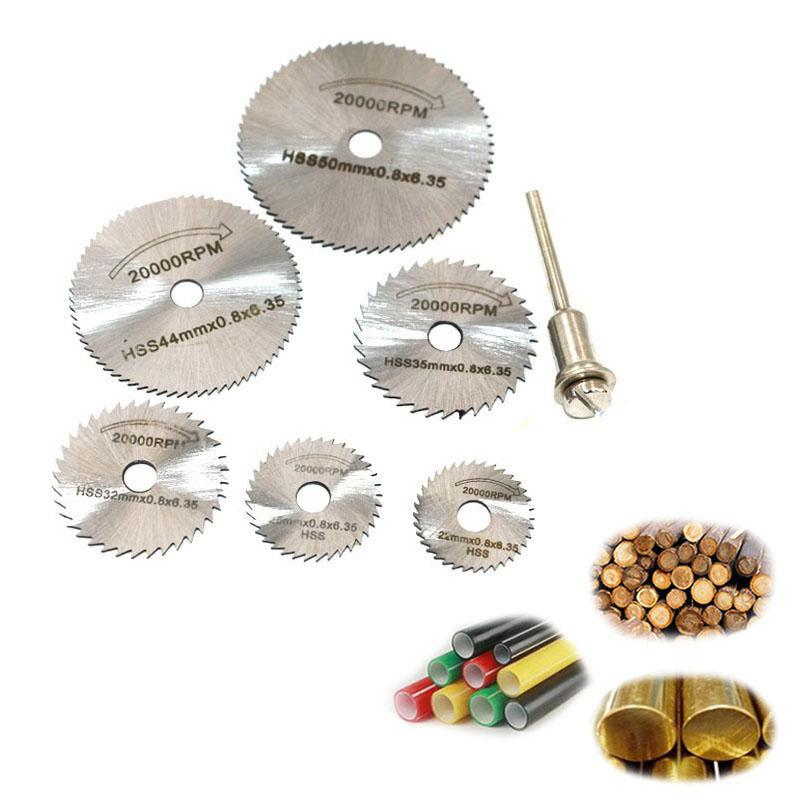 7pcs Circular Saw Blades 22/25/32/35/44/50mm For Wood Soft Metal Cutting Disc Power Tools Accessories
