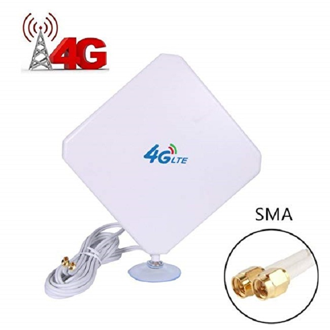 4G LTE Antenna SMA Antenna 35dBi High Gain Antenna With Suction Cup Dual Mimo SMA Male Connector 3G/GSM WiFi Signal Booster For