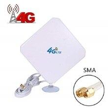 Antena SMA 4G LTE, antena de alta ganancia, conector macho Dual Mimo SMA 3G/4G, amplificador de señal WiFi para enrutador CPE
