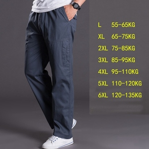 Image 4 - Autumn and winter thick models oversize  pants mens  pants loose mens trousers multi pocket casual pants men