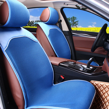 Car seat covers Double-deck breathable mesh anti-skid car cushion forbell Seat cover set 1pcs
