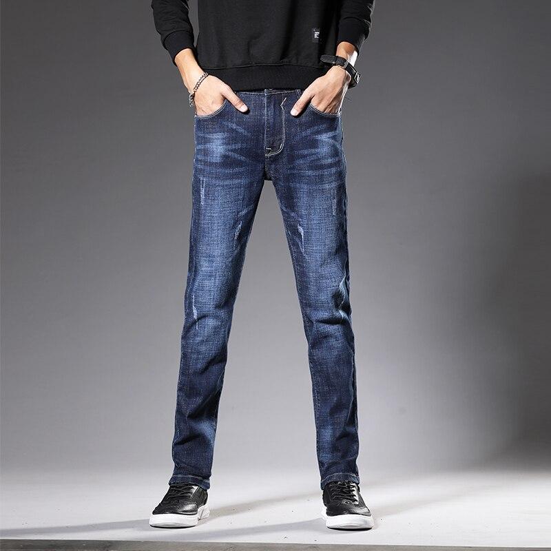 MOOWNUC Jeans Autumn Classic Trousers Mens Jeans Skinny Male Pants Denim Streetwear Jeans For Slim Fit Designer Casual Straight
