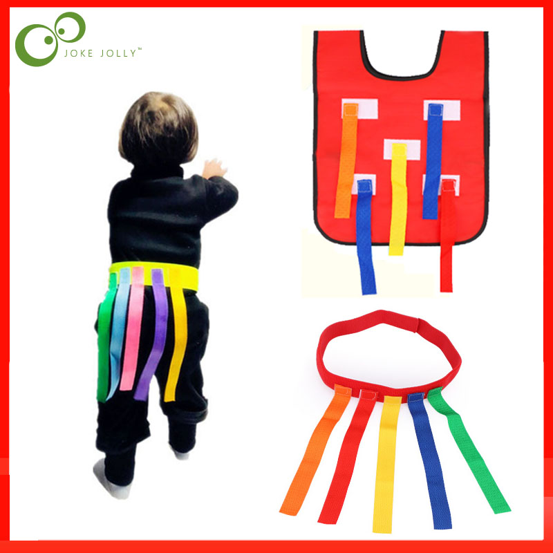 Gilet de ceinture pour enfants, gilet de jeu amusant dextérieur, attraper queue, équipement dentraînement, jeu déquipe pour enfants ZXH