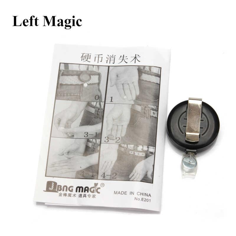 Dinero moneda desaparezca dispositivo herramientas truco trucos de magia desaparece ilusión 1 unids/lote mago juegos de magia juguetes E3040