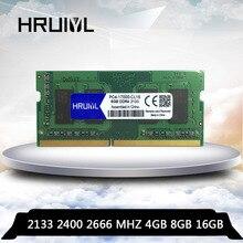 HRUIYL ноутбук DDR4 4 ГБ 8 ГБ оперативной памяти, 16 Гб встроенной памяти, 4G 8G 16G Оперативная Память память ddr 4 PC4-17000 PC4-19200 2133 2400 2666 МГц памяти 260-pin SODIMM