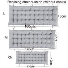 Solid long Cushion Mat For Recliner Rocking Rattan Chair Folding Thick Garden Sun Lounge Seat Cushion Sofa Tatami Mat No Chair