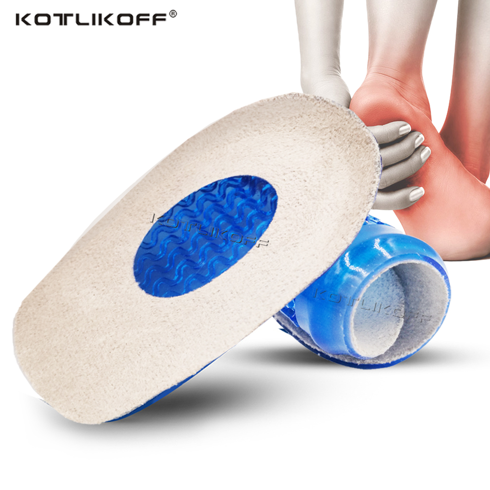 KOTLIKOFF Silicone Gel Orthopedic Insoles Back Pad Heel Cup For Calcaneal Pain Health Feet Care Support Spur Feet Cushion Pads