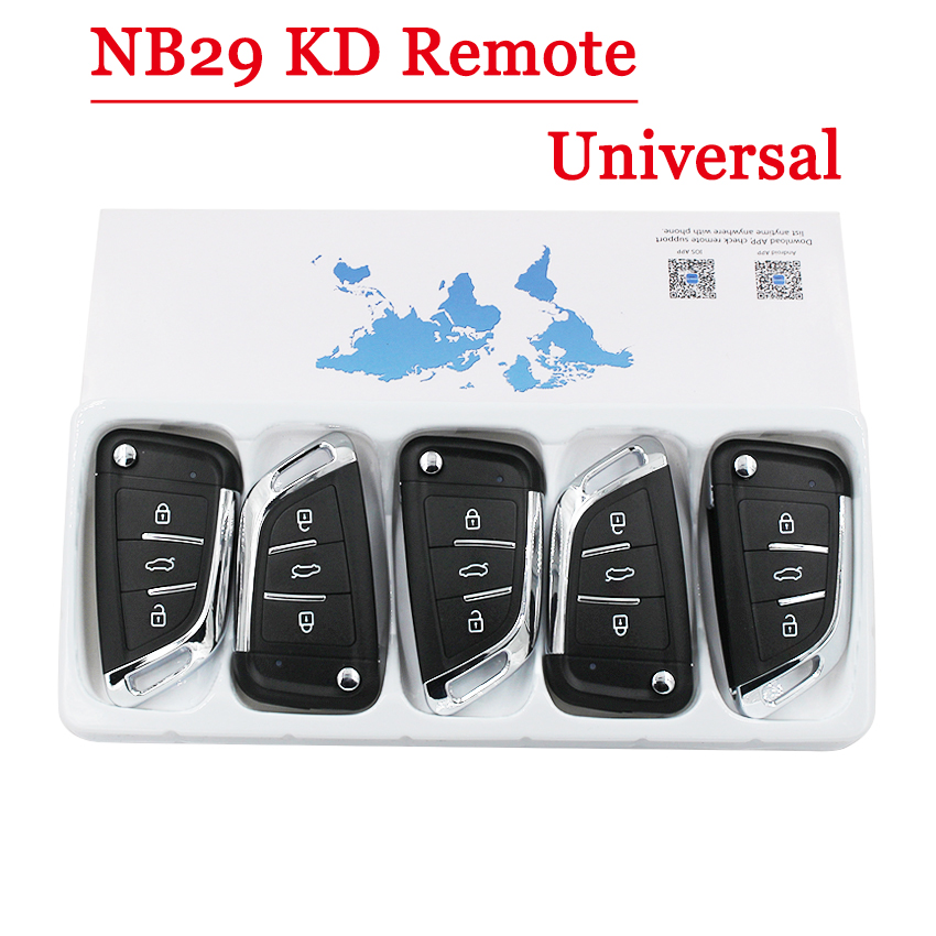 Free Shipping (5pcs/lot)Multi-functional KEYDIY NB29 3 Button Remote Key For KD900 KD900+ URG200 KD-X2 5 Functions In One Key