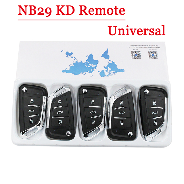 KEYDIY NB29 KD Remote Multi Functional 3 Button Remote Control for KD900 KD900+ URG200 KD X2 5 Functions in One Key (5Pcs/Lot)