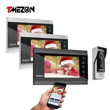 Умный видеодомофон tmezon 7 дюймовый экран беспроводная/wi fi
