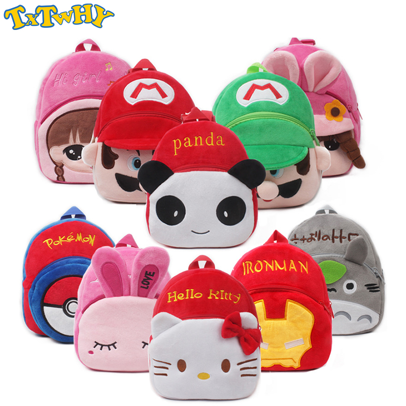 Hello Kitty Bag Animal Plush Backpack Cartoon School Shoulder Bag Kid SnackPlush Dolls Plush Soft Baby Toys Kids School Bag