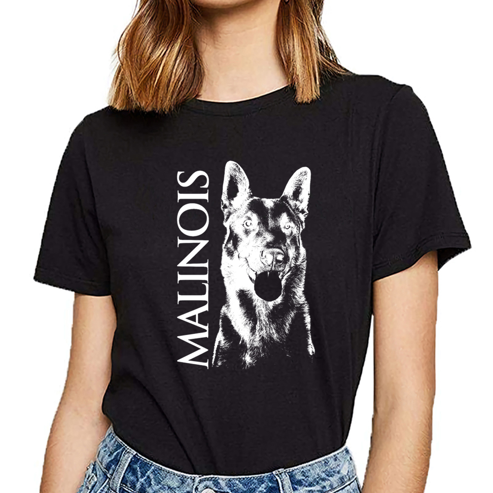 Tops T Shirt Women Malinois Belgian Shepherd Mechelaar Maligator Hip Hop Vintage Print Female Tshirt