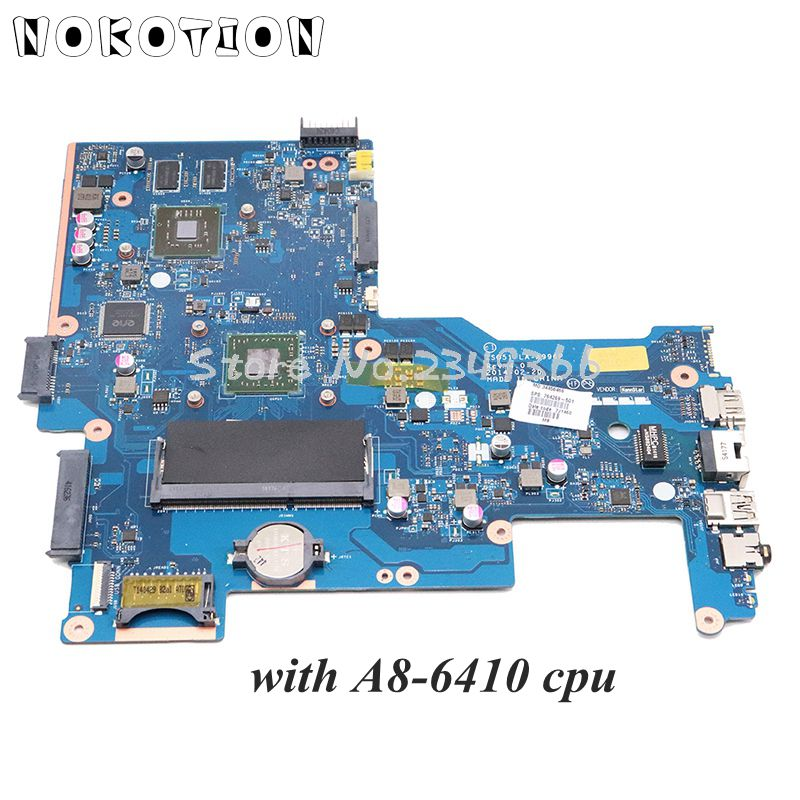 NOKOTION For HP 15-G Laptop Motherboard 764269-501 764269-001 ZSO51 LA-A996P Main Board A8-6410 CPU 8570M Graphics