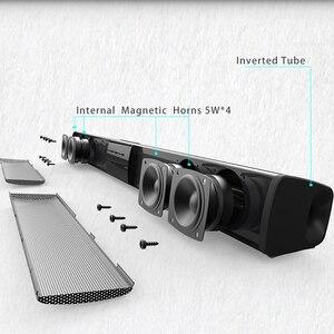 Image 2 - Barra de som estéreo wireless bluetooth de 20w, alto falantes de home theater, barra de som para tv, sistema de som surround duplo, subwoofertas