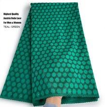 Exclusif Original autriche dentelle de coton poli de la plus haute qualité tissu de Voile transparent africain pour hommes et femmes vêtements traditionnels doux
