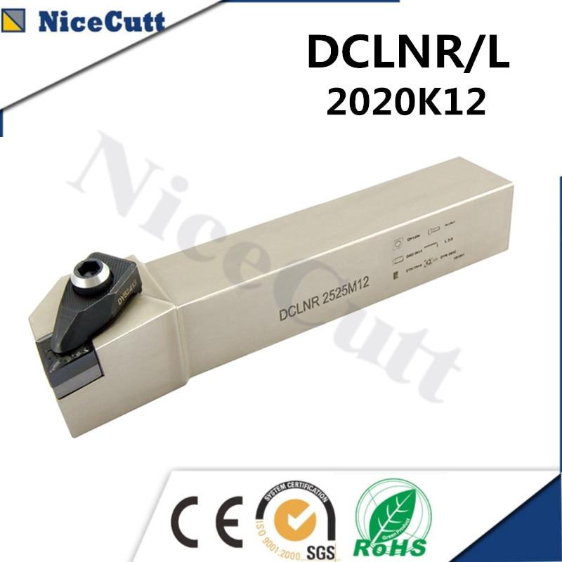 Nicecutt DCLNR2020K12;DCLNL2020K12 lathe CNC tool External Turning Tool Holder for CNMG insert Lathe Tool Holder Hight Quality