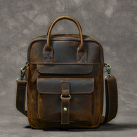 Men's Bags Genuine Leather Men's Shoulder Bag Male Crazy Horse Vintage Crossbody Bags for Men Messenger Bag Leather