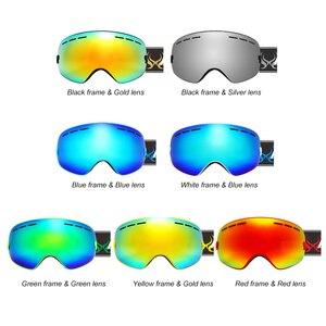 Image 2 - ילדי סקי משקפי UV400 אנטי ערפל כפול שכבות סקי מסכת משקפיים סנובורד החלקה Windproof משקפי שמש ילדים סקי משקפי