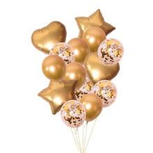 14 шт. 12 дюймов латексные 18 дюймов много воздушных шаров С Днем Рождения Декоративные гелиевые шарики свадебный фестиваль балон вечерние принадлежности