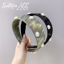 Хлопчатобумажная пряжа жемчужные ободки для женщин на шнуровке;