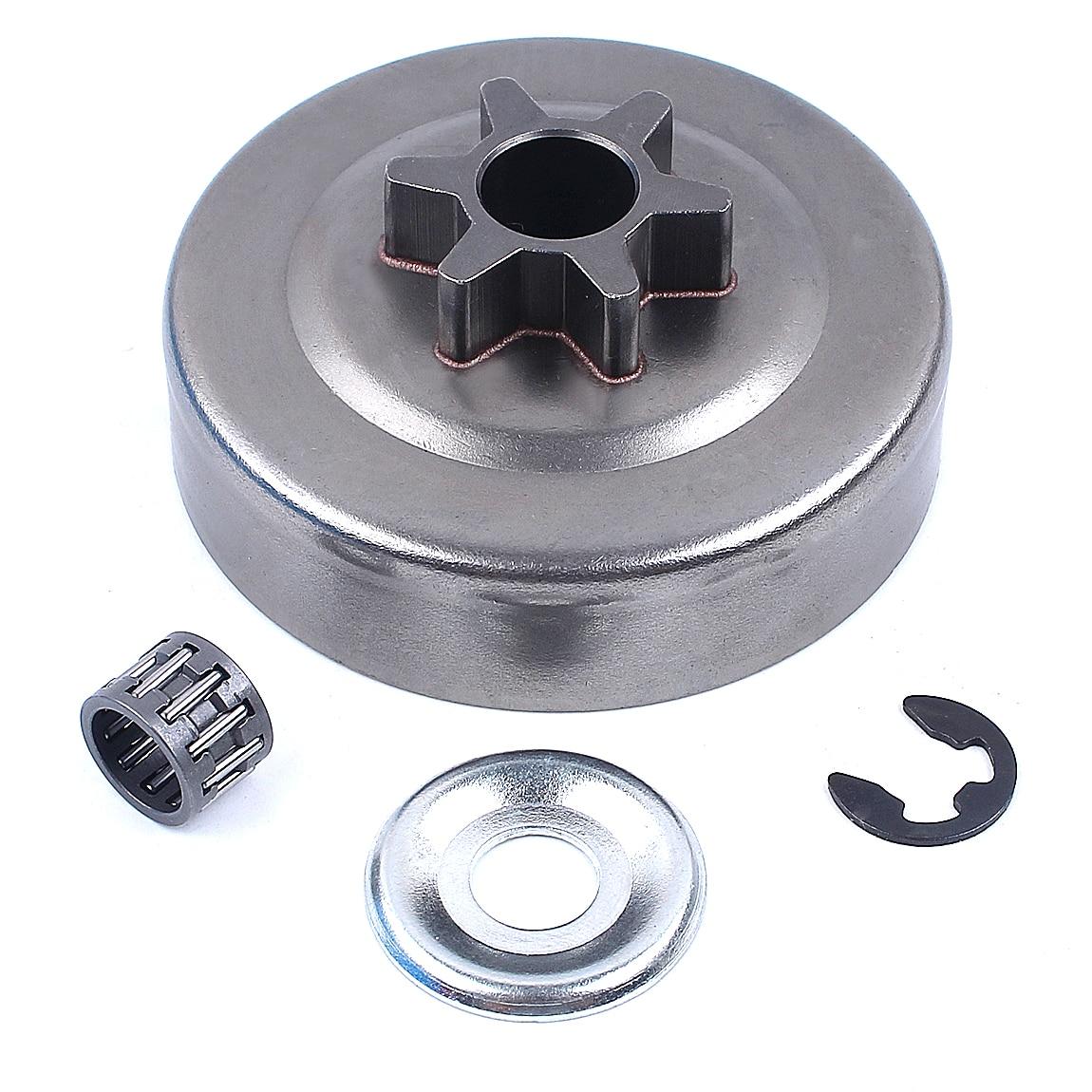 3/8 Шаг 6 т диск сцепления Звездочка шайба E-Clip комплект для STIHL 017 018 021 023 025 MS170 MS180 MS210 MS230 MS250 бензопила