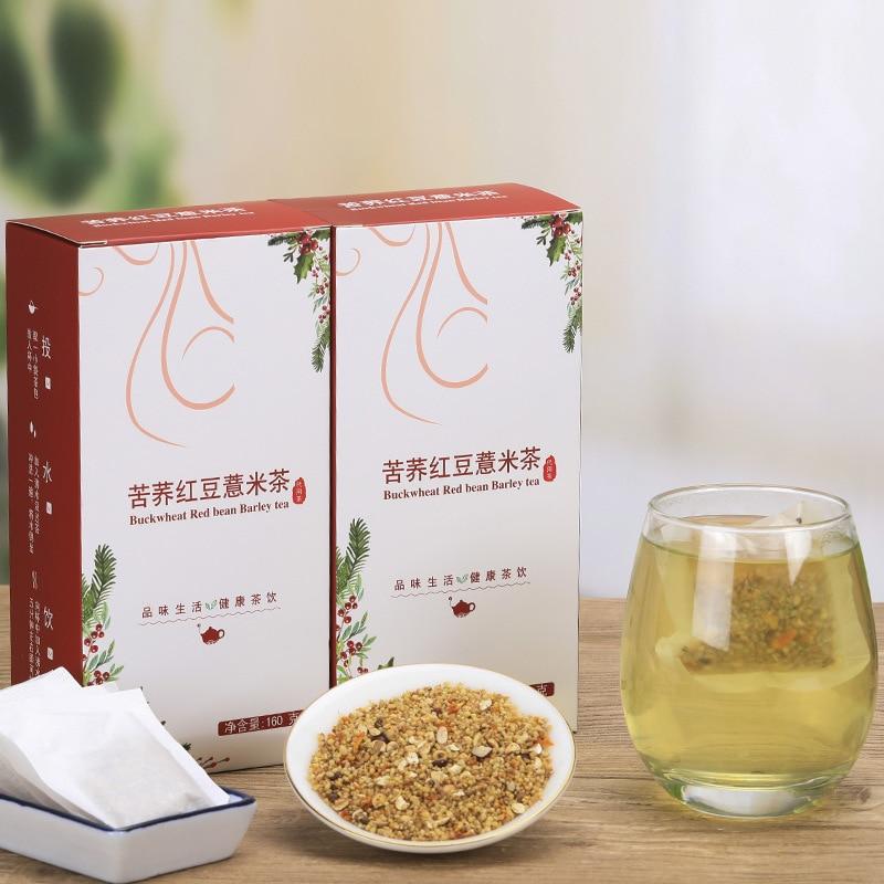 Tartary Buckwheat Red Bean and Coix Rice Tea Health Bag 40 Packs of Qushi Tea 160g