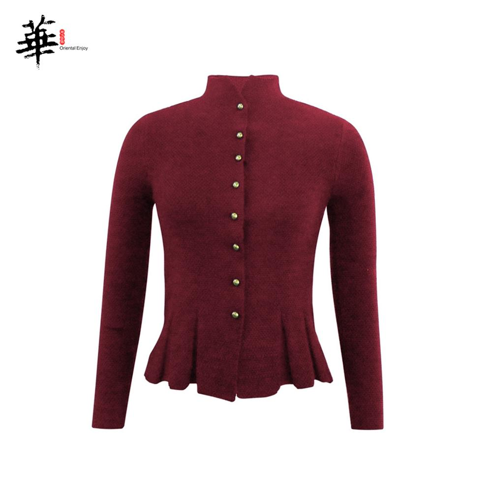 Women Knitted Cardigan Sweater Single Breasted Ruffled Hem Autumn Cardigans Sweaters For Women And Ladies Womens Clothing Coat