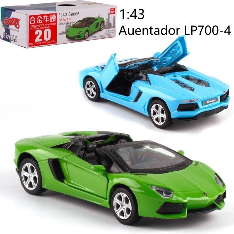 1:43 escala LP700-4 liga, carro de brinquedo para trás diecast, modelo de carro de metal, brinquedo para coleção, amigo, presente para crianças