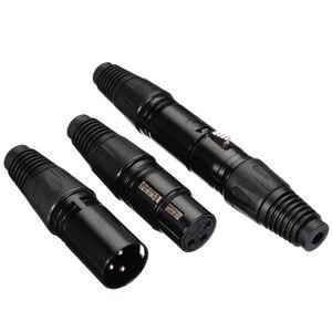 Image 2 - Mayitr 10 Đôi XLR 3Pin Micro Âm Thanh Đầu Nối Cáp Đen Nam + Nữ Mic Cắm Cáp Kết Nối XLR Adapter