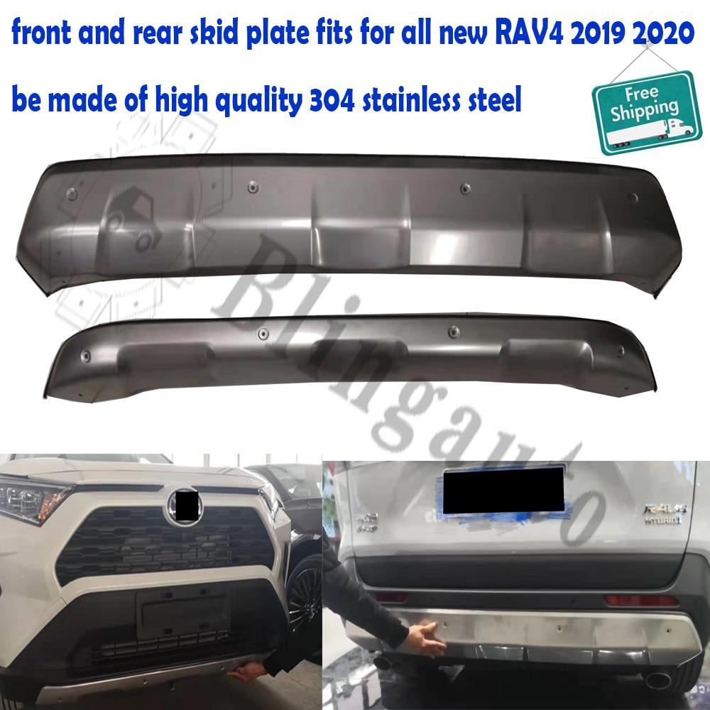 Stainless Bumper  Body Skid Plate Lip Diffuser Guard o For Toyota RAV4 2016-2018