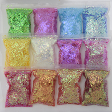 200g/Bag Gradient Nail Glitter Sequins Stickers Holographic