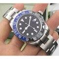 Дизайнерские GMT керамические Безель люксовый бренд мужские s механические SS автоматические 2813 Move Мужские t часы спортивные AAA Часы наручные ...