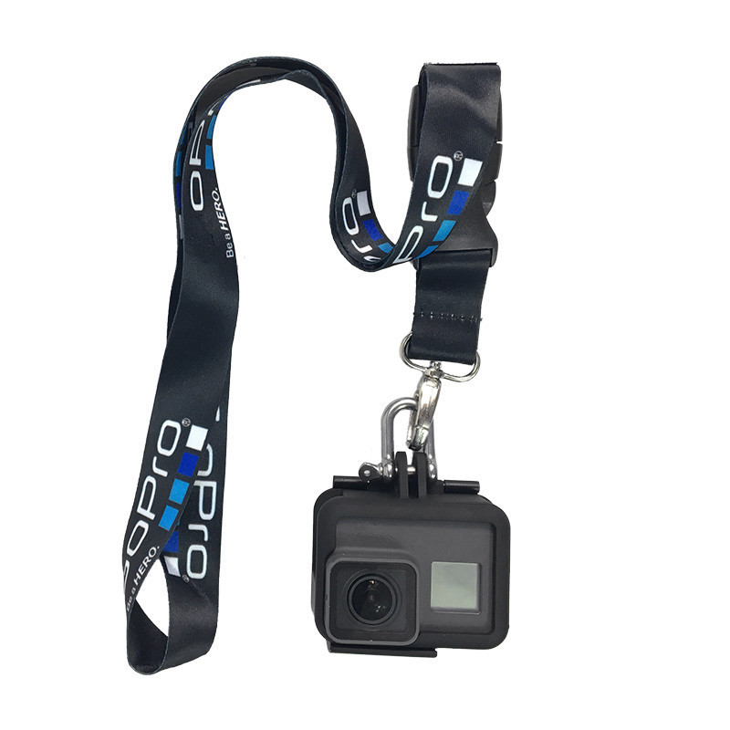Image 3 - Rope for Gopro hero 8 7 6 5 Sjcam Neck Strap lanyard with Quick release Buckle for Gopro h9 DJI Action Sports Camera Accessories-in Sports Camcorder Cases from Consumer Electronics
