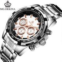 EBay AliExpress orkina MG.ORKINA MG Steel Belt Leather Belt Po015 Quartz Watch