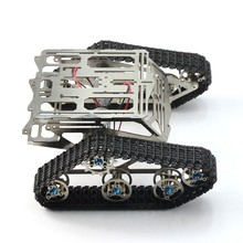 цена на Metal caterpillar Tank Robot Chassis Track Arduino Tank Chassis Wali Motor Stainless Steel