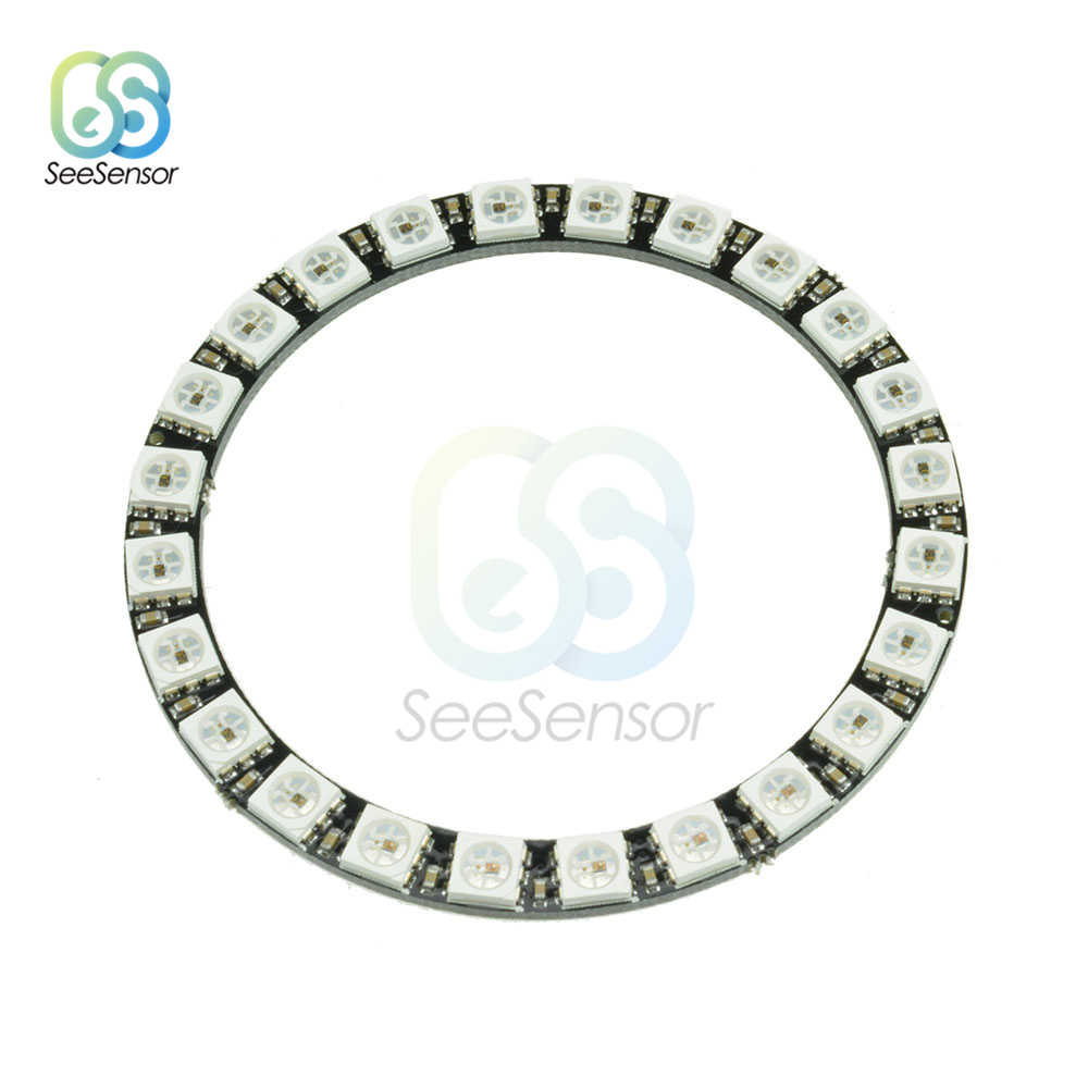 RGB LED Ring 1 3 4 7 8 12 16 24 Bits LEDs WS2812 5050 RGB LED Ring Lamp Light with Integrated Drivers